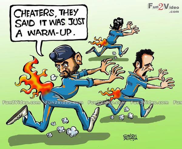 Funny Cartoons Of Cricketers Indiatimes Com