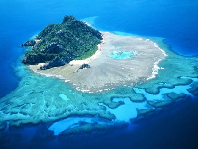 18 24 Wallpaper Tropics Sea Ocean Island Fiji Monuriki
