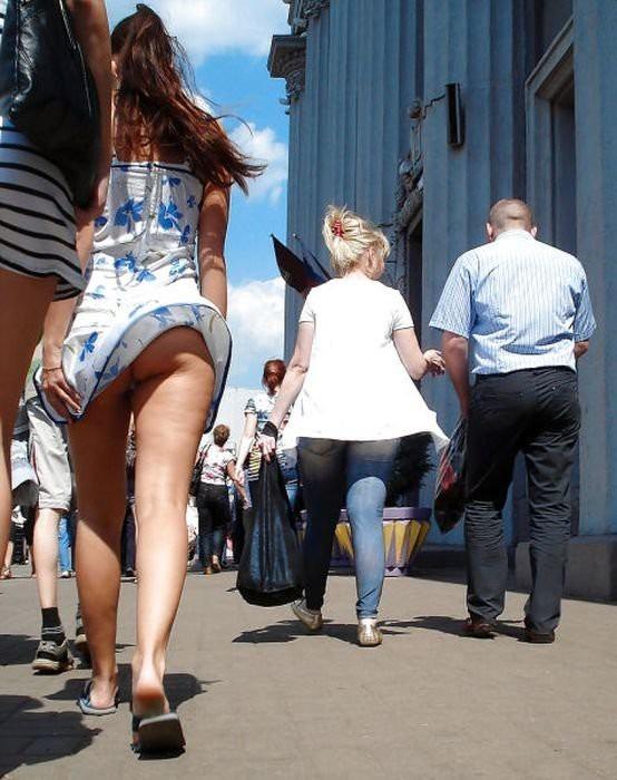 On girl in public