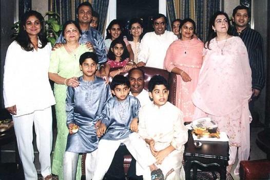 Image result for dhirubhai ambani and family