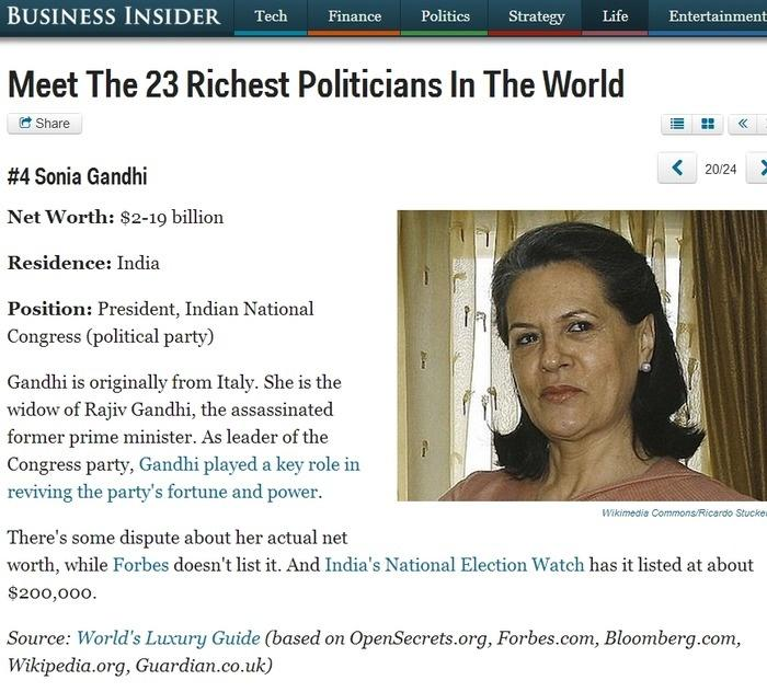 Indian politicians and their secret wealth Photos