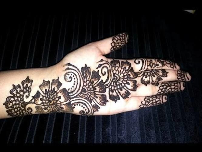 Arabic Floral Henna Simple Flowers Fusion Style Mehndi Design
