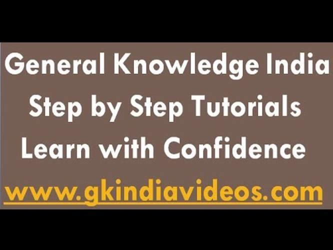 General Knowledge India-Best GK Tutorial Online