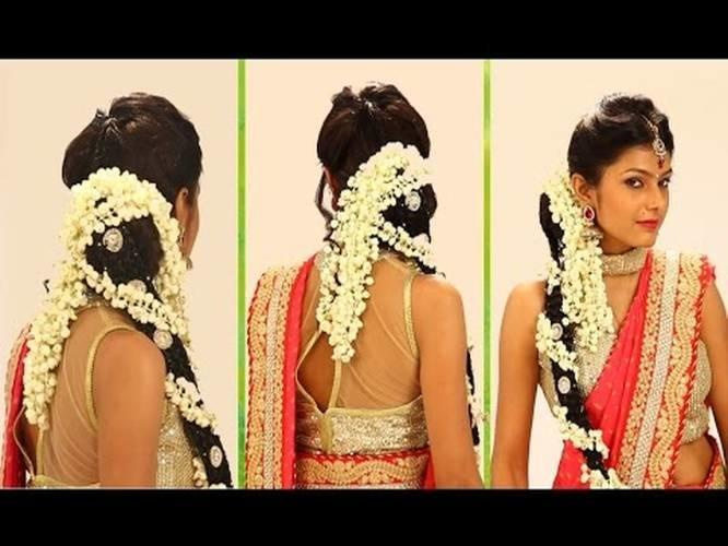 Indian Bridal HairStyle Step By Step - South Indian Bridal Hair ...
