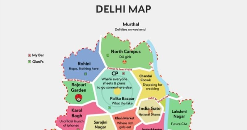 This Map Of Delhi Describes Delhiites So Correctly, It Might ... Delhi On Map on beijing on map, dhaka on map, dubai on map, isfahan on map, kuala lumpur on map, pataliputra on map, kabul on map, osaka on map, mughal empire on map, manila on map, agra on map, calcutta on map, chittagong on map, madras on map, amritsar on map, lahore on map, karachi on map, sind on map, kolkata on map, goa on map,