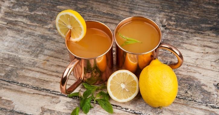 Copper drinking vessel