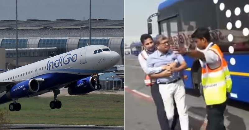 Indigo Staff Manhandles  Year Old Passenger At Delhi Airport Airline Issues Apology Indiatimes Com