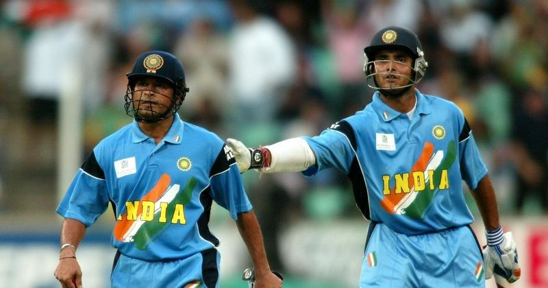 Image result for ganguly and sachin playing
