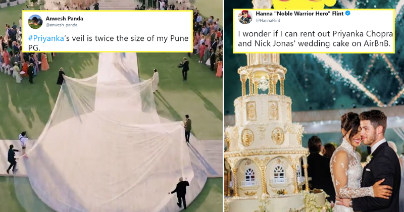 75 Foot Veil 18 Foot Cake Priyanka Nick S Wedding Pictures Cause
