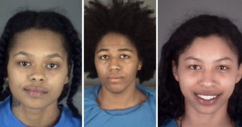 3 young naked women in speeding car, Florida police arrest