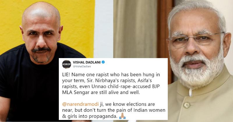 Vishal Dadlani Slams Prime Minister Narendra Modi Over His Claim ...