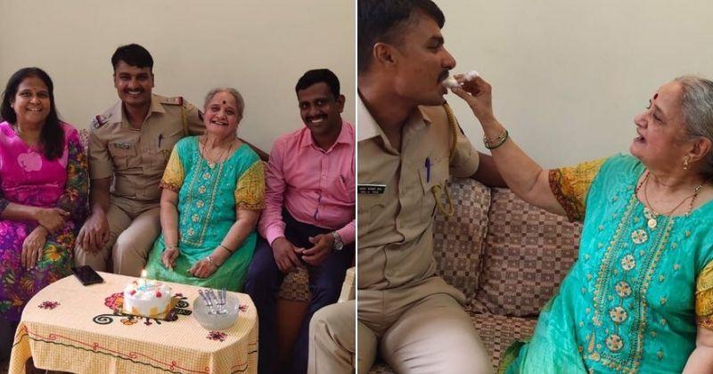 Mumbai Police Surprise 77-YO Woman Living Alone, With