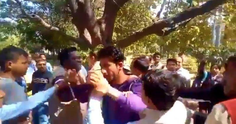 Image result for bjp workers thrashed youth