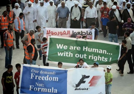 Bahrain hit by violent protests ahead of Sunday Grand Prix