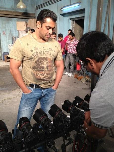 Salman Khan shoots for Ek Tha Tiger