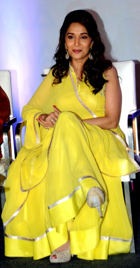 Madhuri Dixit turns 'devi' at Delhi Couture Week