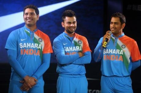 Team India sports new jersey, a fitter Yuvraj