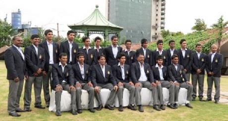 Group photo of the India U-19 cricket team