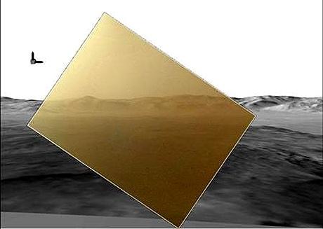 Mars rover Curiosity sends home first colour photo