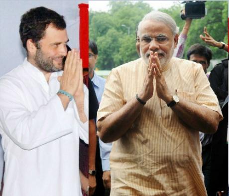 Rahul Gandhi versus Narendra Modi