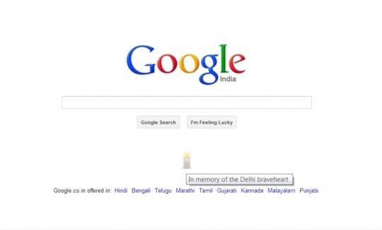 Google India Lights a Candle for Delhi Gang Rape Victim