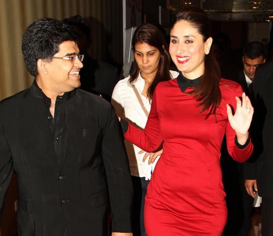 Kareena with Jitesh Pillai, Editor-In-Chief, Filmfare Magazine