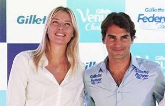 Roger Federer and Maria Sharapova