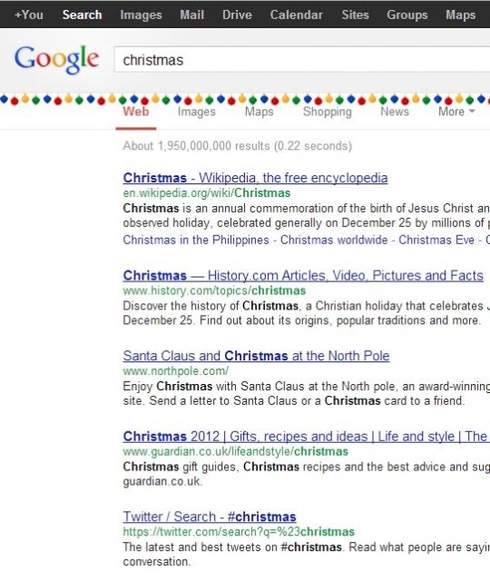 Type Christmas into Google