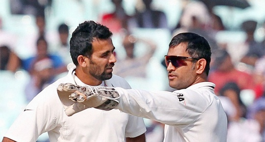 Zaheer Khan and M S Dhoni