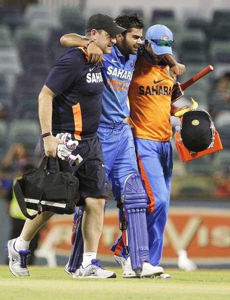 Virat Kohli gives India a scare
