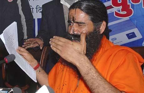 'Ink attack' on Baba Ramdev sparks socio-political outcry