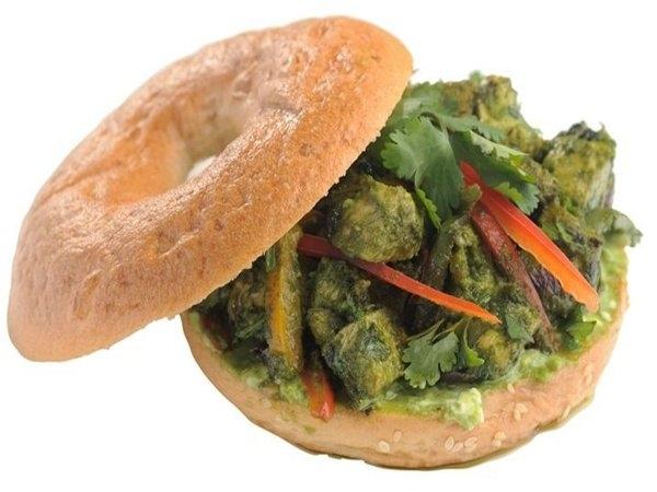 Healthy Bagel Recipe: Spicy Coriander Chicken Bagel
