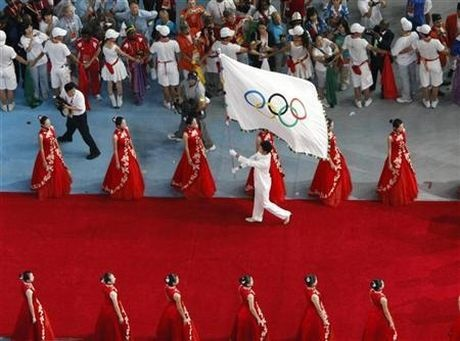 Olympic flag bearing: A potted history