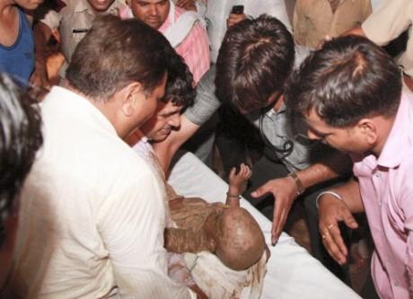 Infant falls in pit