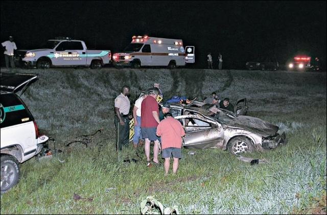 Freeman's car crash
