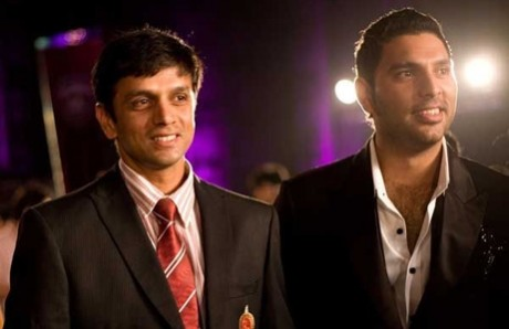 Yuvraj Singh and Rahul Dravid