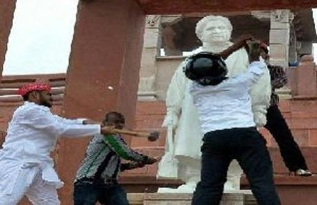 After Mayawati, Ambedkar statues vandalized in UP