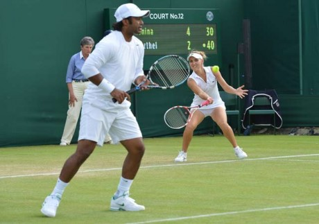 Paes-Vesnina in mixed doubles quarterfinals