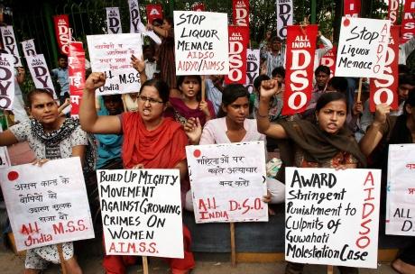 Protest against Guwahati molestation