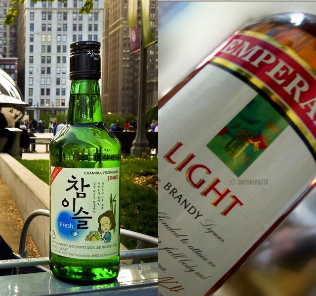 Lotte Liquor (soju) - 23.90m cases and Emperador (brandy) - 20.10m cases