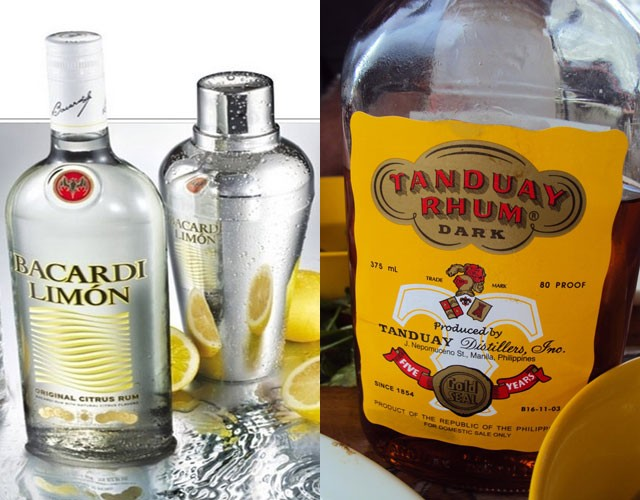 Bacardi (rum) - 19.56m cases and Tanduay (rum) -18.71m cases