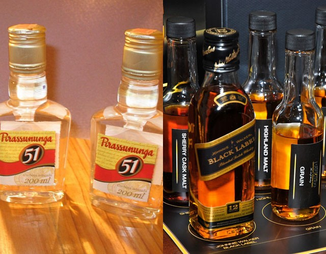 Pirassunga 51 (cachaca) - 18.60m cases and Johnnie Walker (Scotch whisky) - 18.00m cases