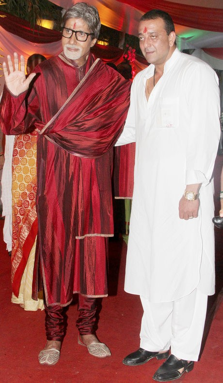 Amitabh Bachchan and Sanjay Dutt