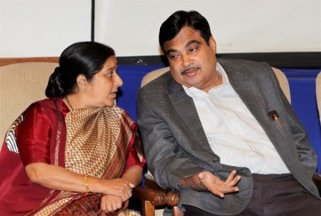 Nitin Gadkari Sushman Swaraj