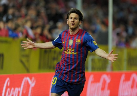 Barcelona says Messi 1 goal shy of club record