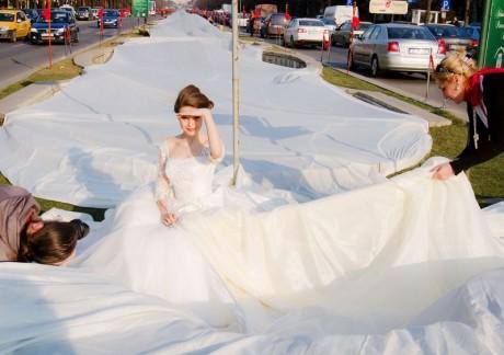 Longest bridal train @ Romania