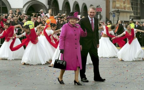 A royal Holi with the Queen