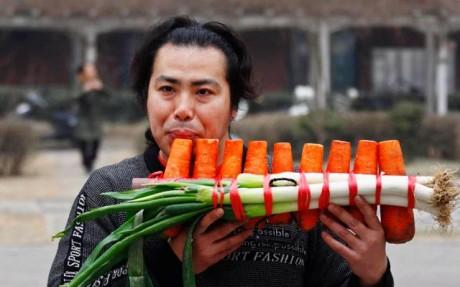 Vegetables for music