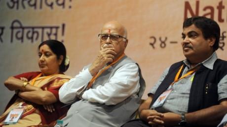 L K Advani Sushma Swaraj Niting Gadkari