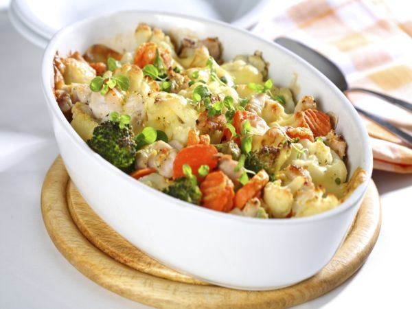 One-Dish Meal: Chicken Vegetables Casserole
